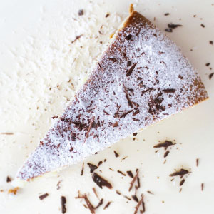kakosmilchkuchen mit geraspelter schokolade